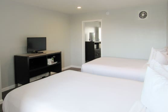 Two queen bed suite with tv
