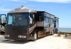 Motor Home Black RV Park Texas