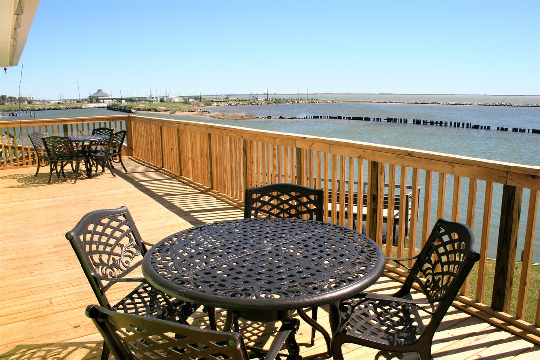 Terrace House Porch Beach House Rental Texas
