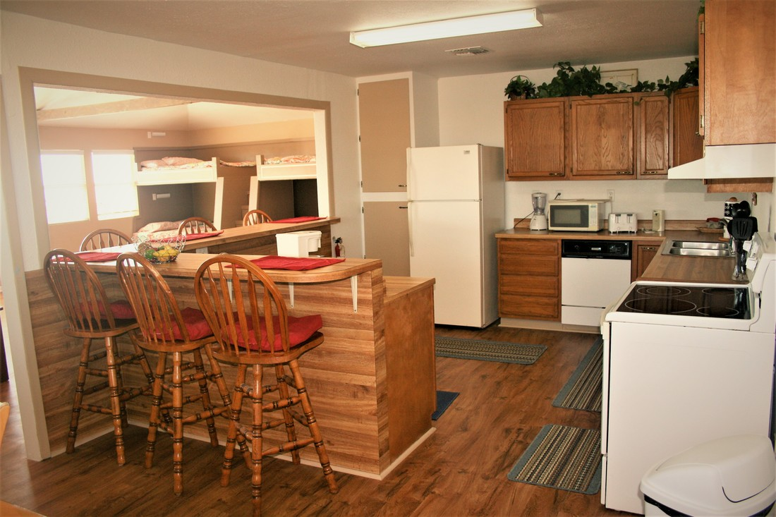 House Kitchen Wood RV Park Austin