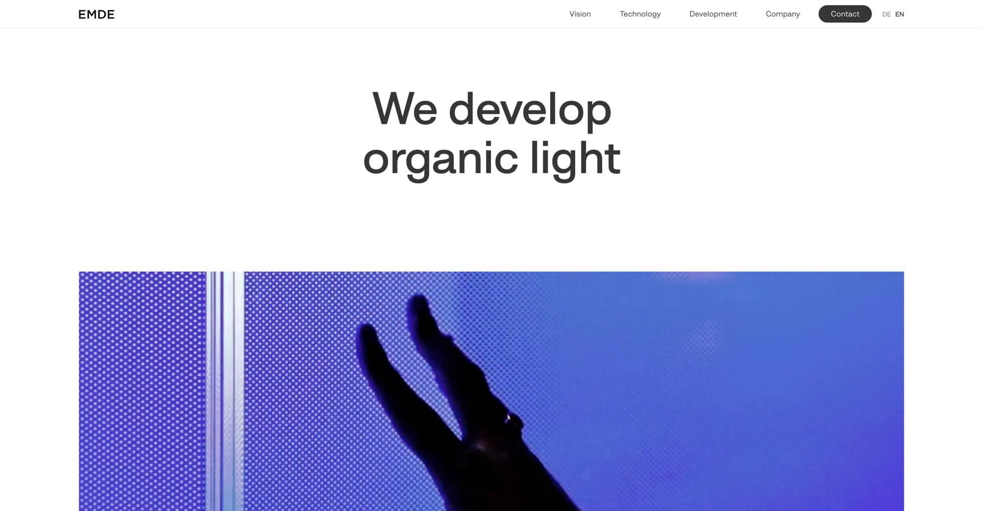 Screenshot Emde GmbH | Moritz Petersen Webflow Web Designer