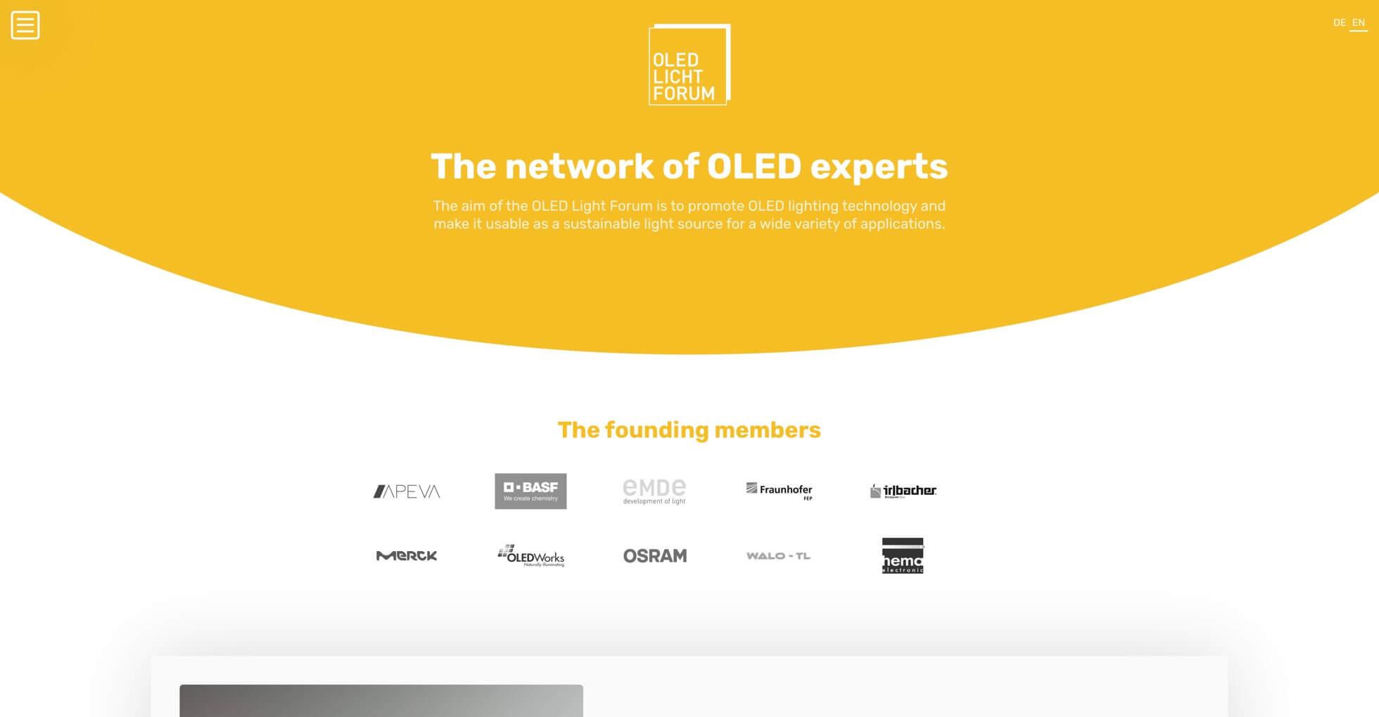 Screenshot OLED Licht Forum | Moritz Petersen Webflow Web Designer