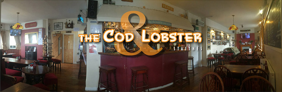 This is the banner heading of the Cod and Lobster