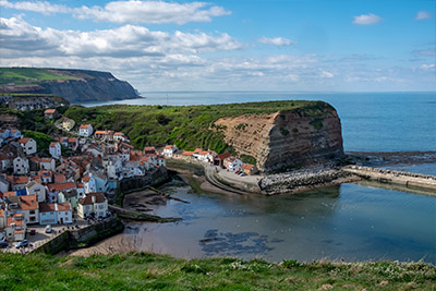 A view of Staithes from vantage point