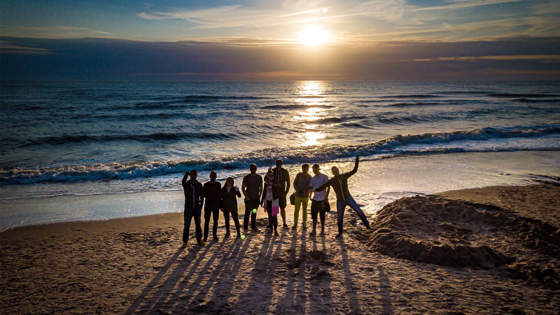 DCC Team am Strand