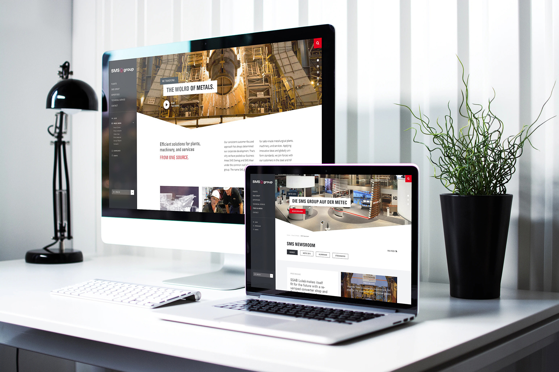 SMS - Internationale Corporate Website