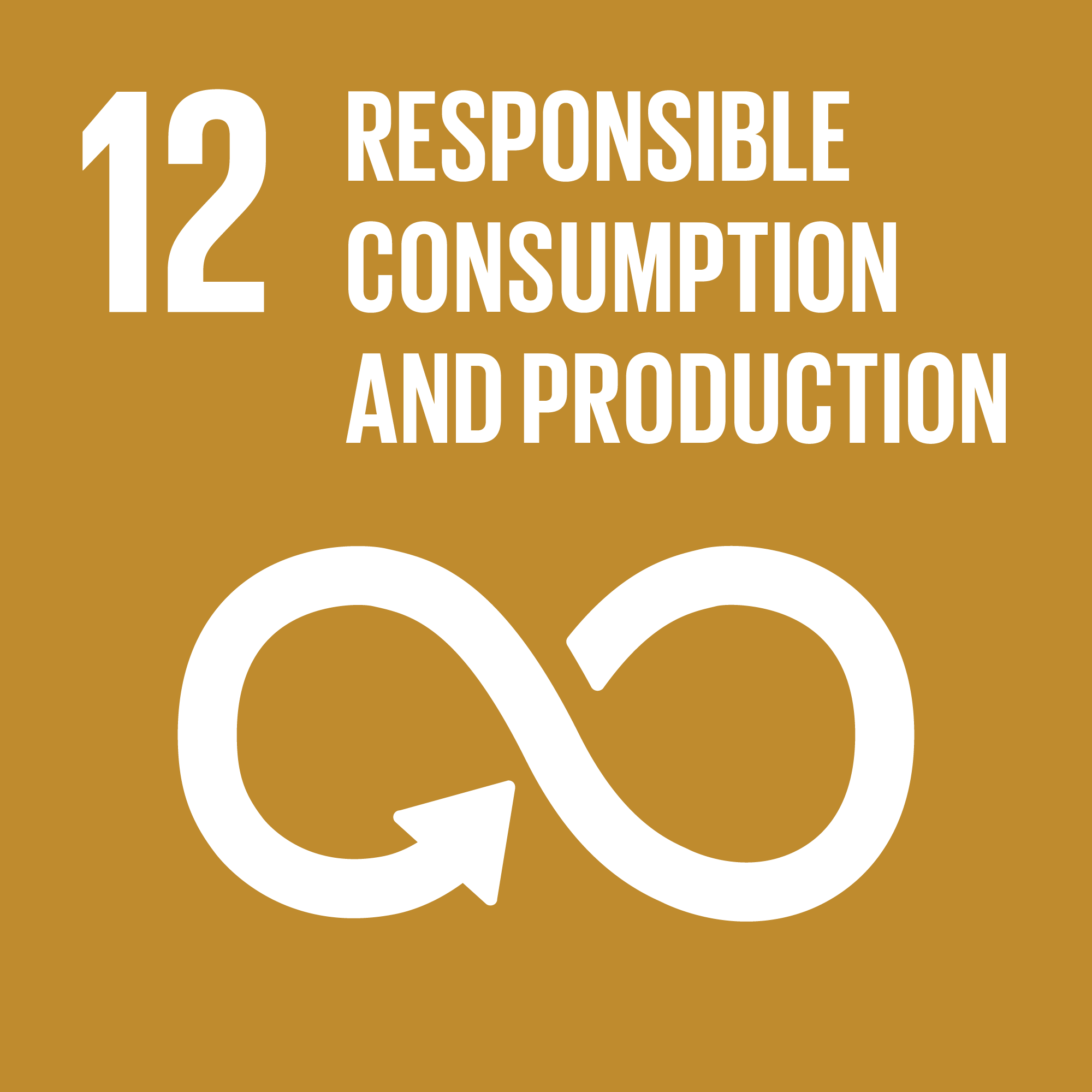 Icon for the global goals number 12, Responsible consumption and production