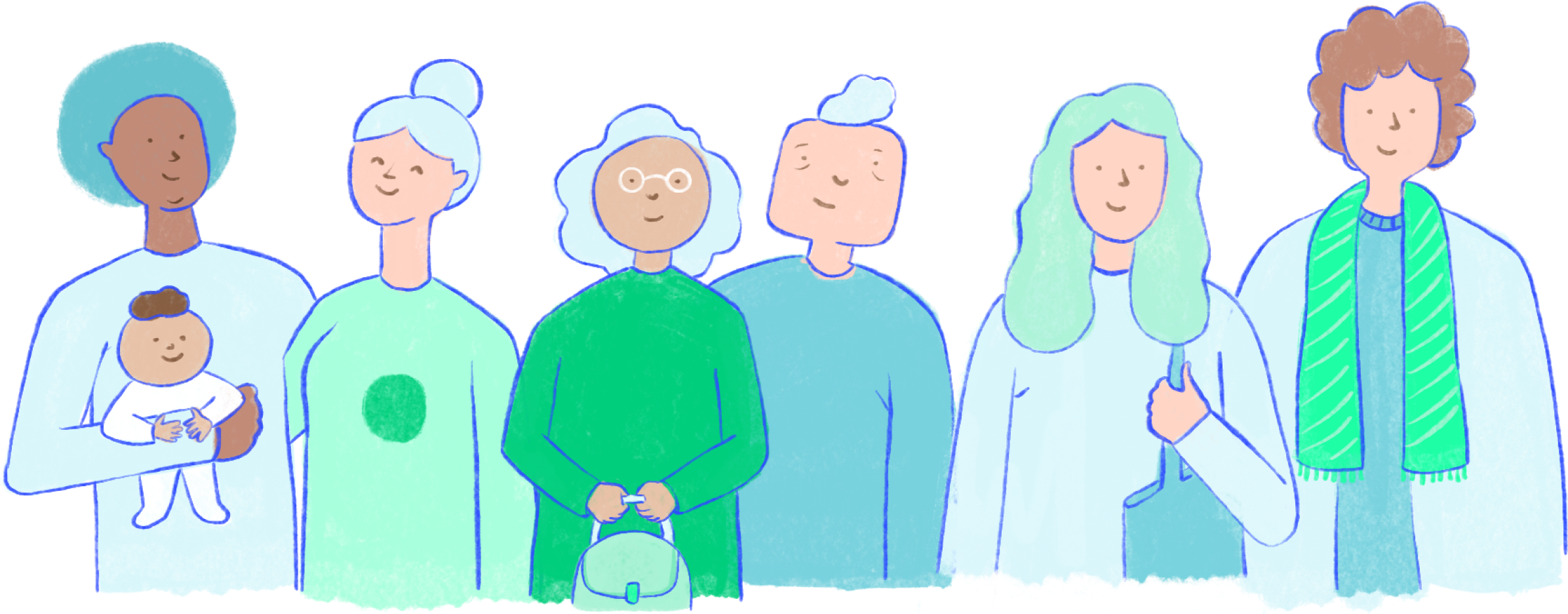 Famille représentant la communauté Iroko