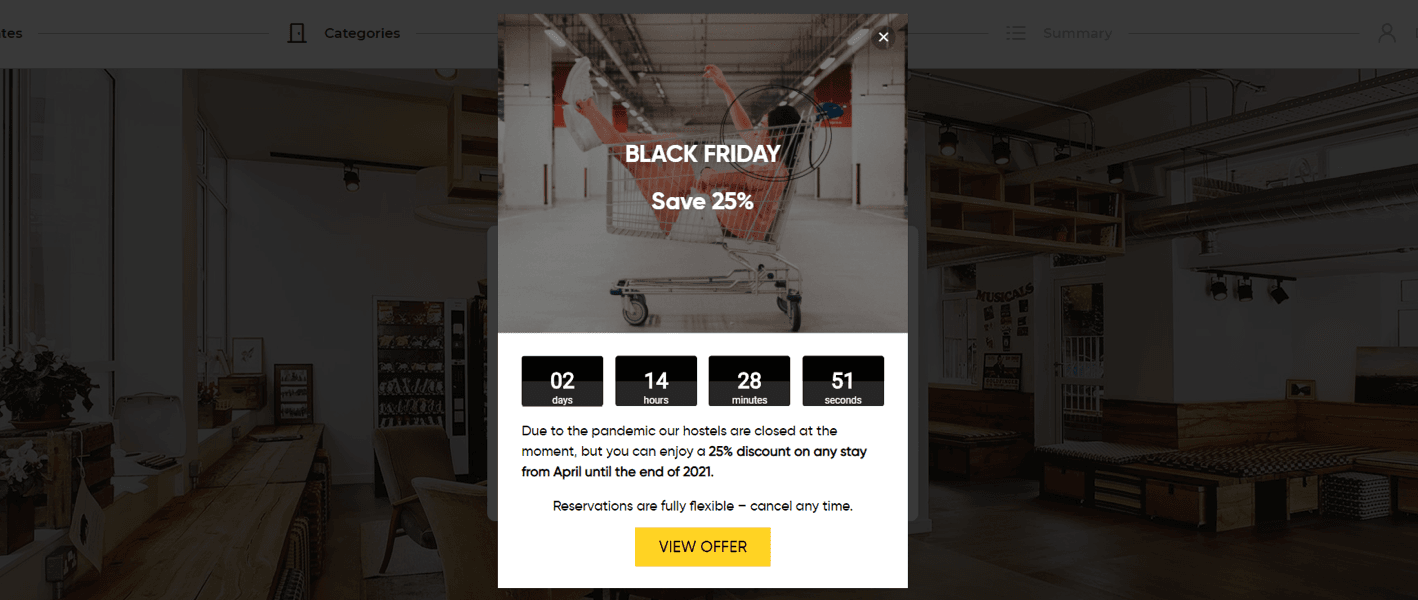 91% direct revenue increase for hotels over Black Friday weekend