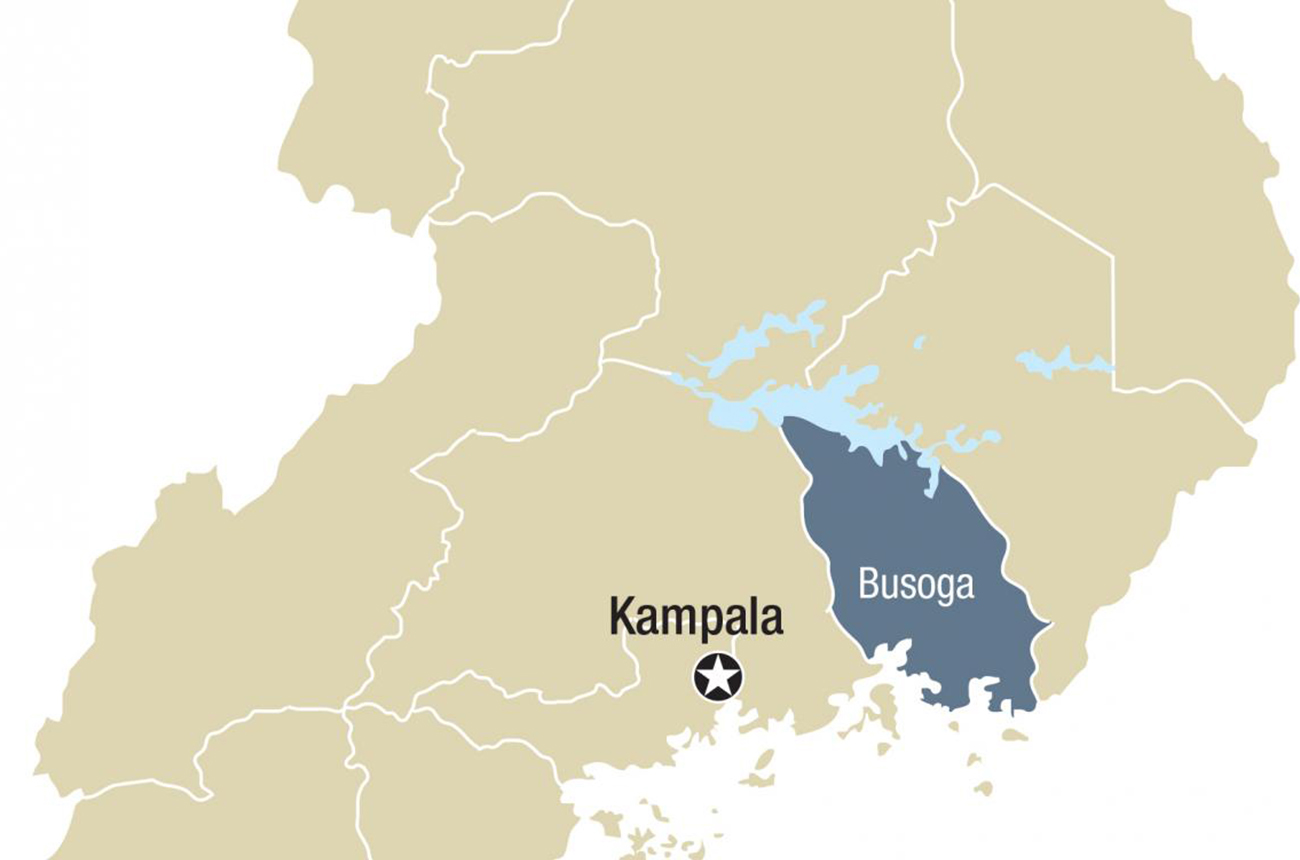 map of uganda, the areas we work in
