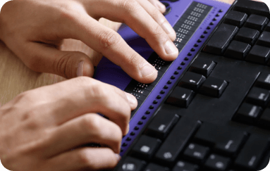 person using Assistive Technology