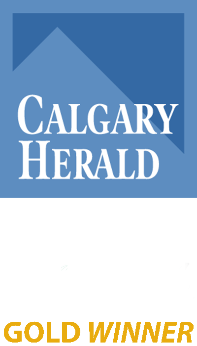 The Gutter Doctor is a Gold Winner for the Calgary Herald Readers Choice Award