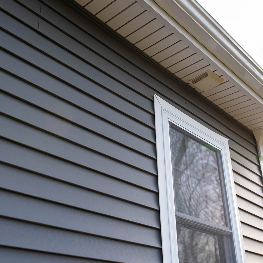 Home siding after installation
