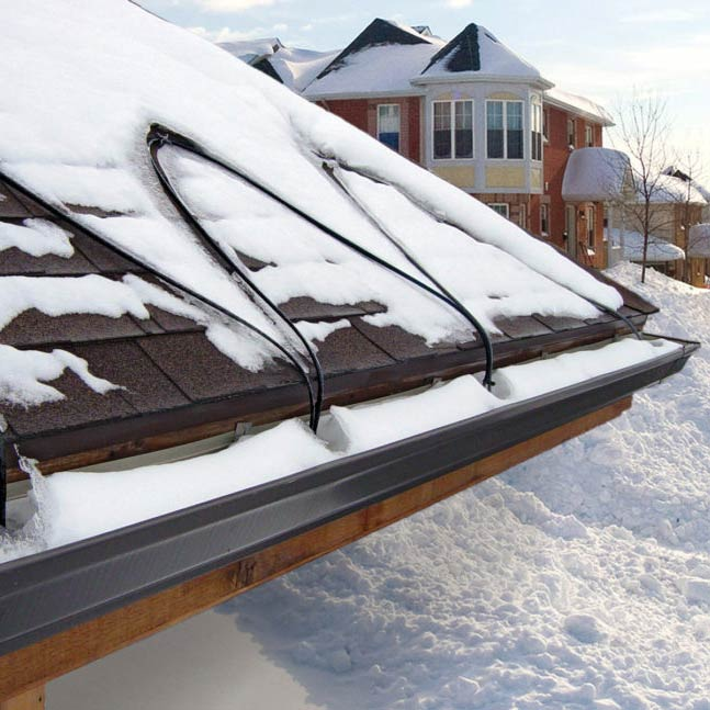 Heat cable installation by the Gutter Doctor