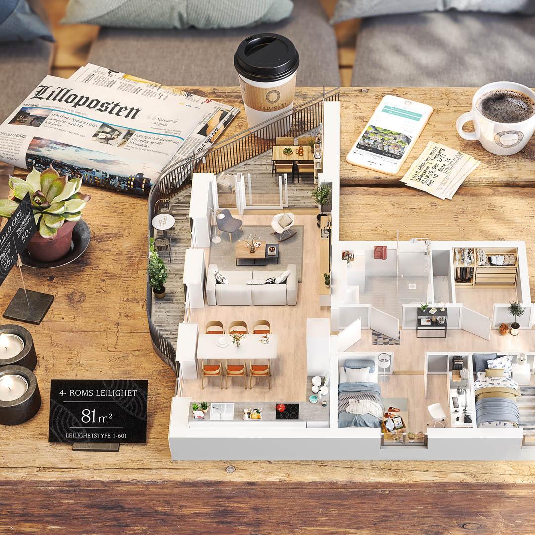 Lillo Gård – Stor og kreativ leveranse for eiendomsplan og OBOS