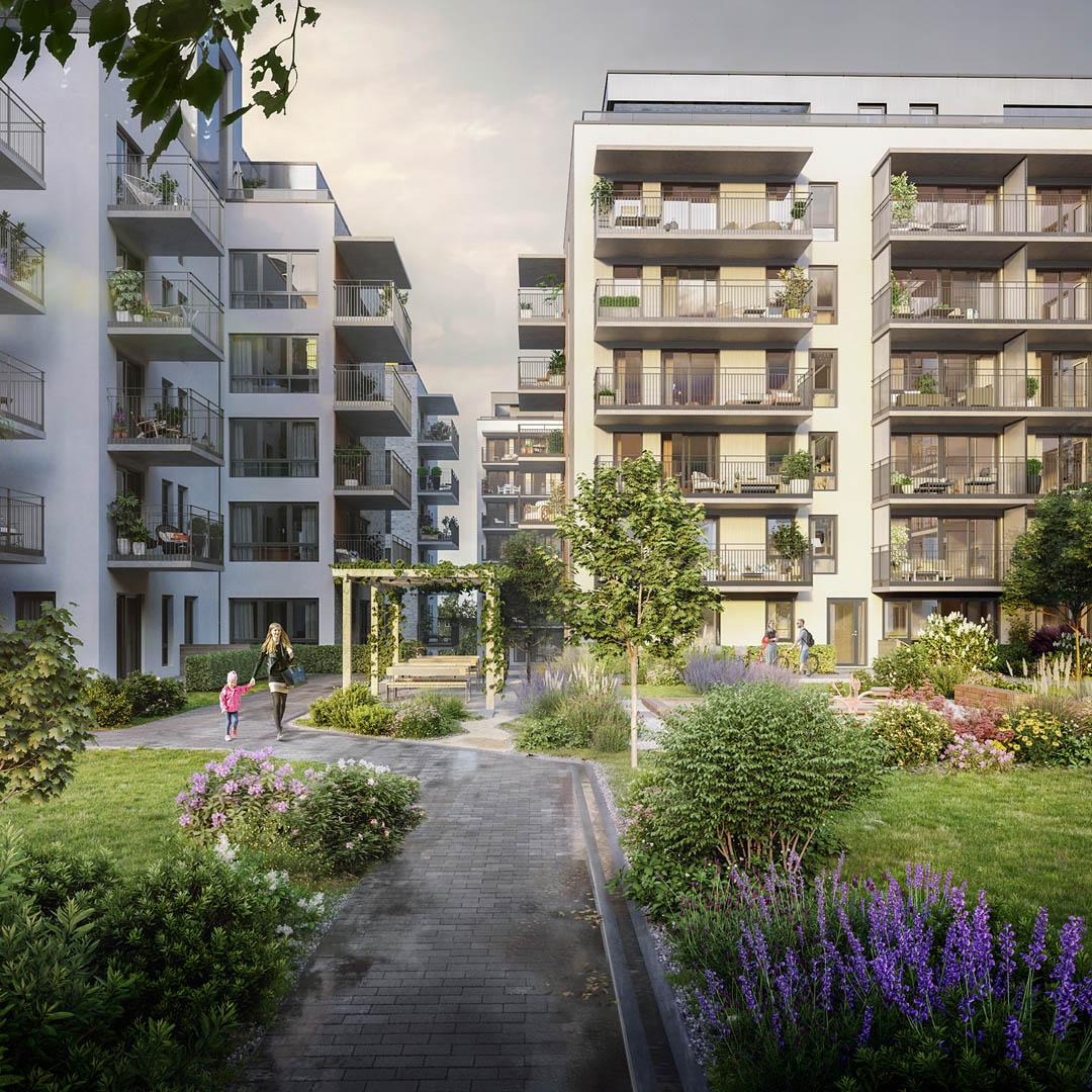 3D-visualisering til boligprosjektet Locus Ensjø