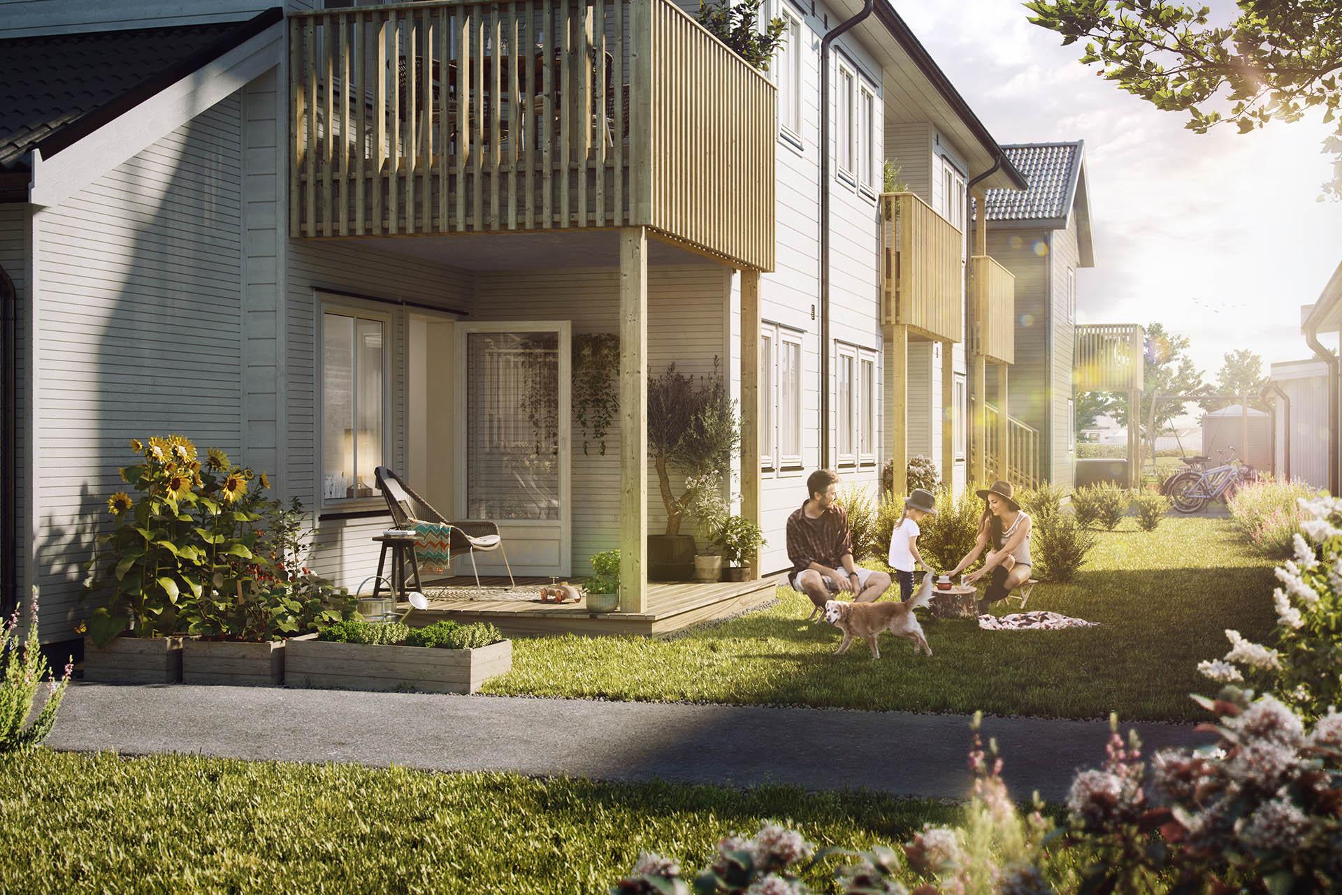 Virtuell visning er et enestående pedagogisk 3D-verktøy for å vise fram en ny bolig. Nesten som å være der.