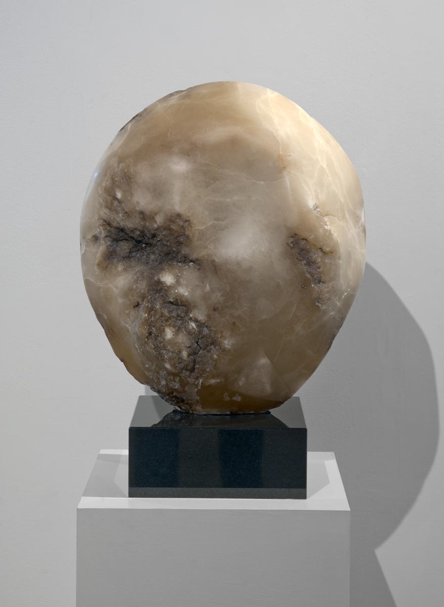 Alabaster on granite