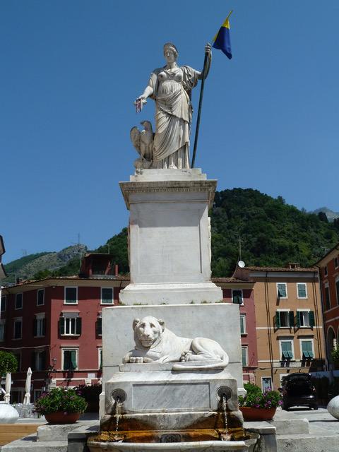 Statue in Carrara, Italy