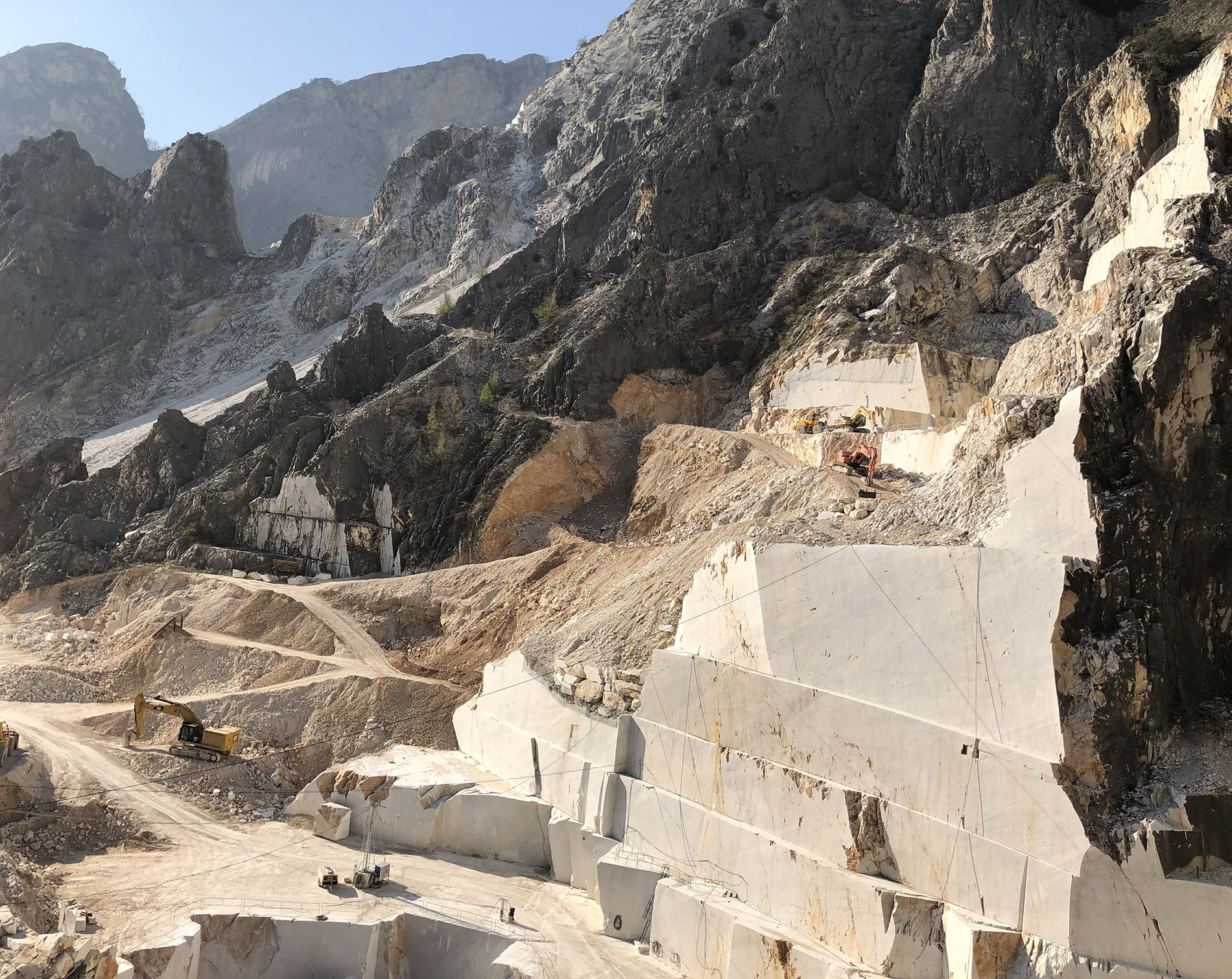 Marble quarry in Cararra, Italy