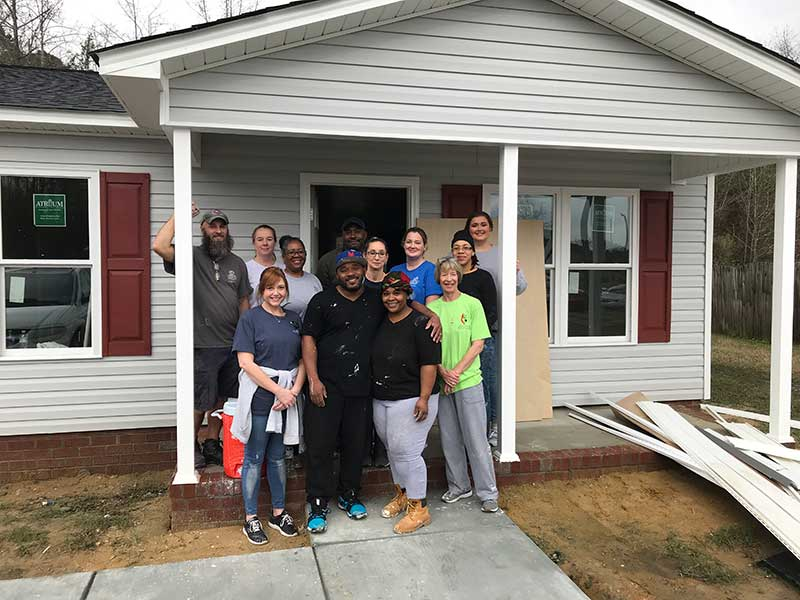 Collaborative Team Helps Habitat for Humanity
