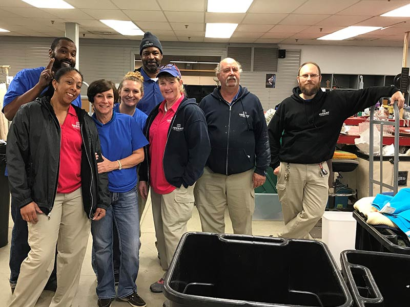Abberly Grove Team volunteers at Shepherd's Table Soup Kitchen