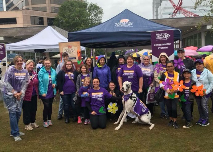 Spring Arbor of Greensboro Participates in the Guilford County Walk to End Alzheimer's