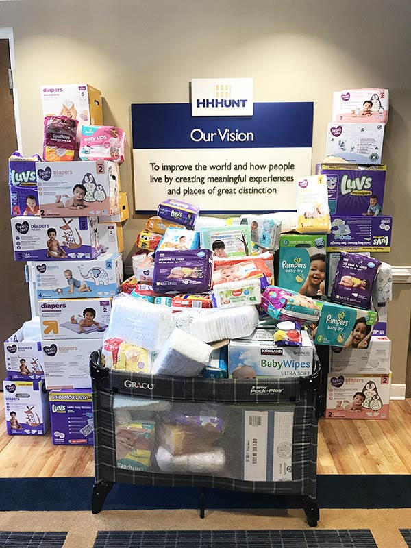 HHHunt Supports the Capital Diaper Bank
