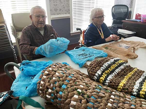 Weaving Sleeping Mats for the Homeless