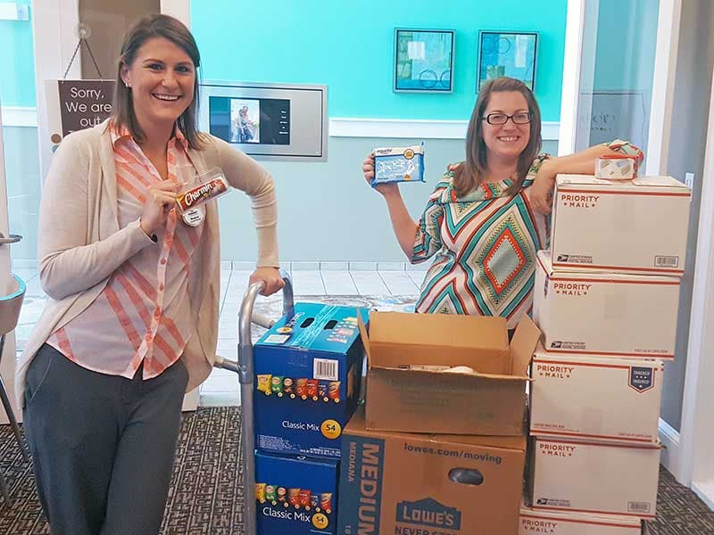 HHHunt Collects Supplies for Operation Shoebox