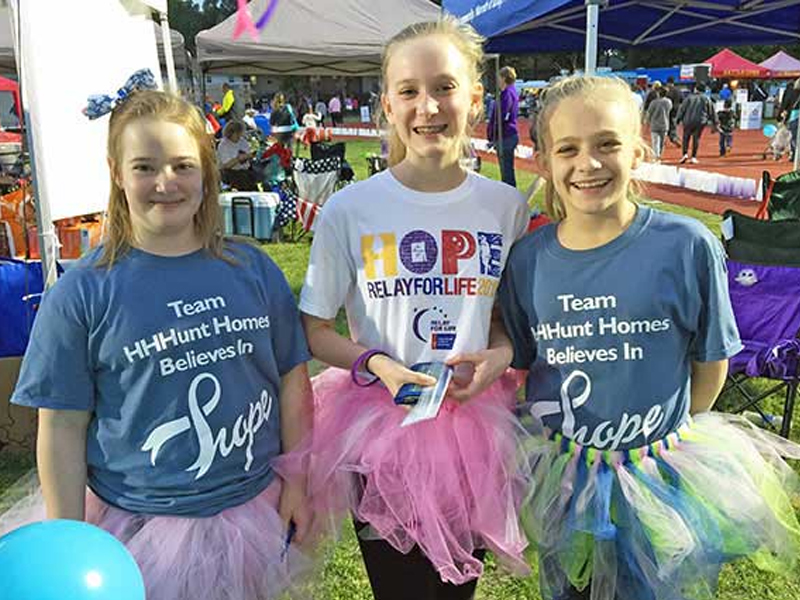 HHHunt Supports Relay for Life