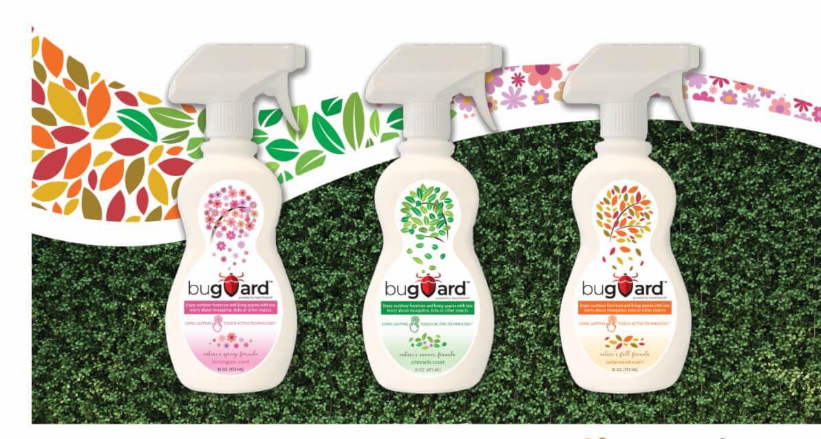 3 cello spray bottles of Buguard