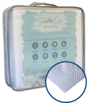 sleep life cool cotton mattress protector