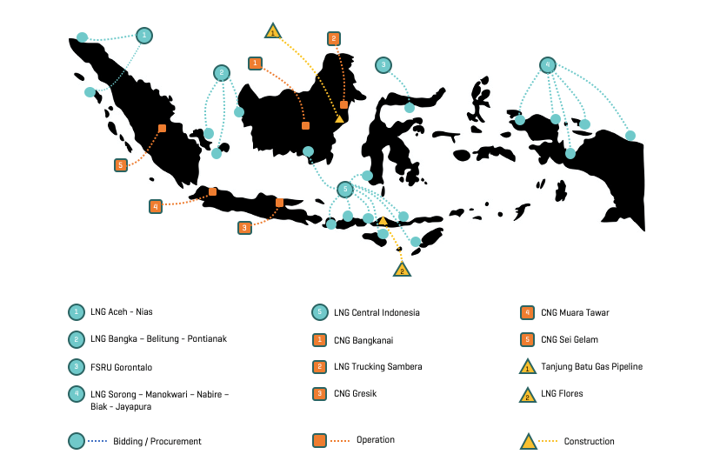 lng overview in indonesia