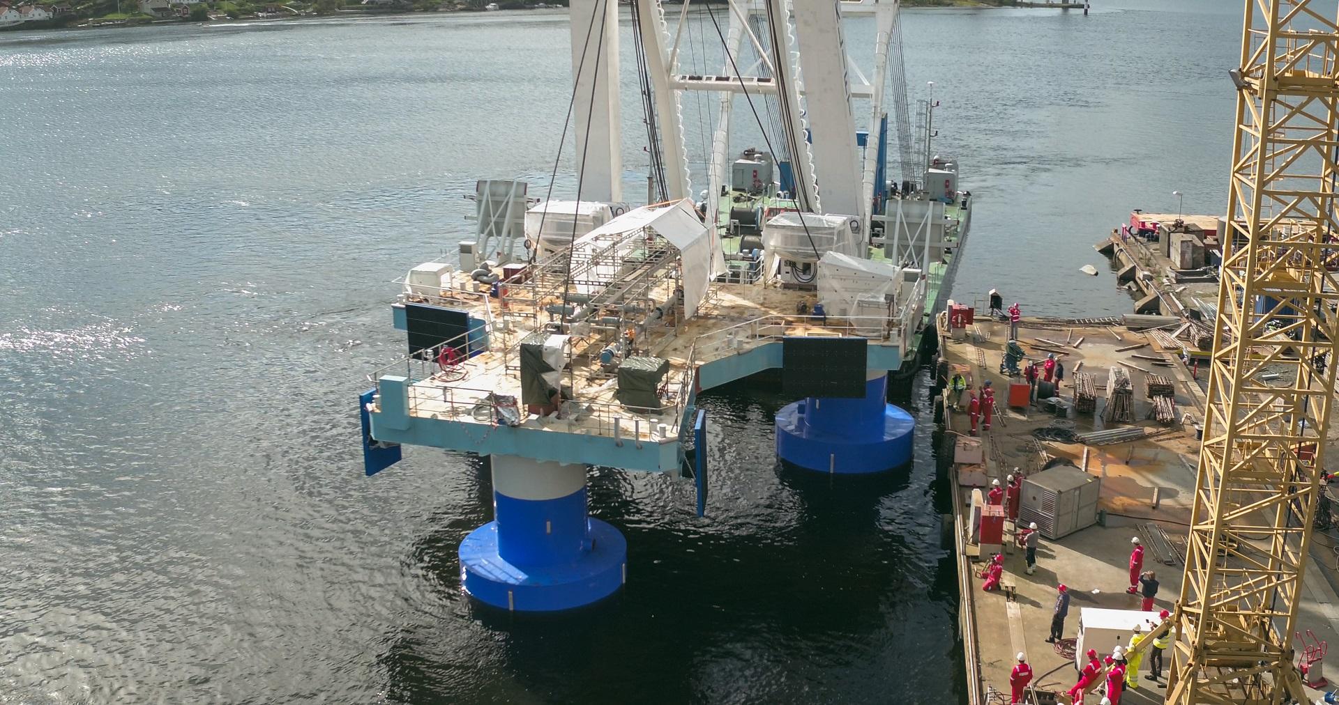Floating transfer system under construction at yard
