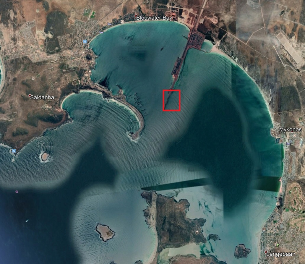 Possible location for UTS in Saldanha Bay