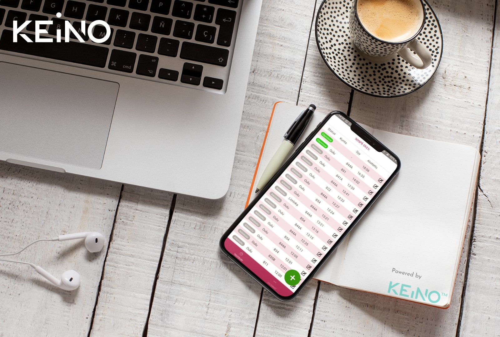 Municipalities in the Oulu region join forces in out-of-hours social emergency services - a mobile application from KEiNO to record hours worked between municipalities.