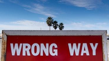 """""""Wrong Way"""" sign in Santa Monica"""