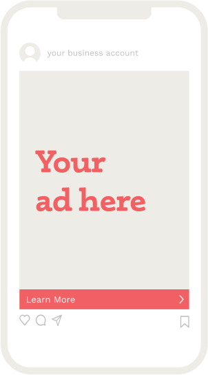 Mock social media ad displayed in full-screen on a mobile device, with a compelling headline and call to action button
