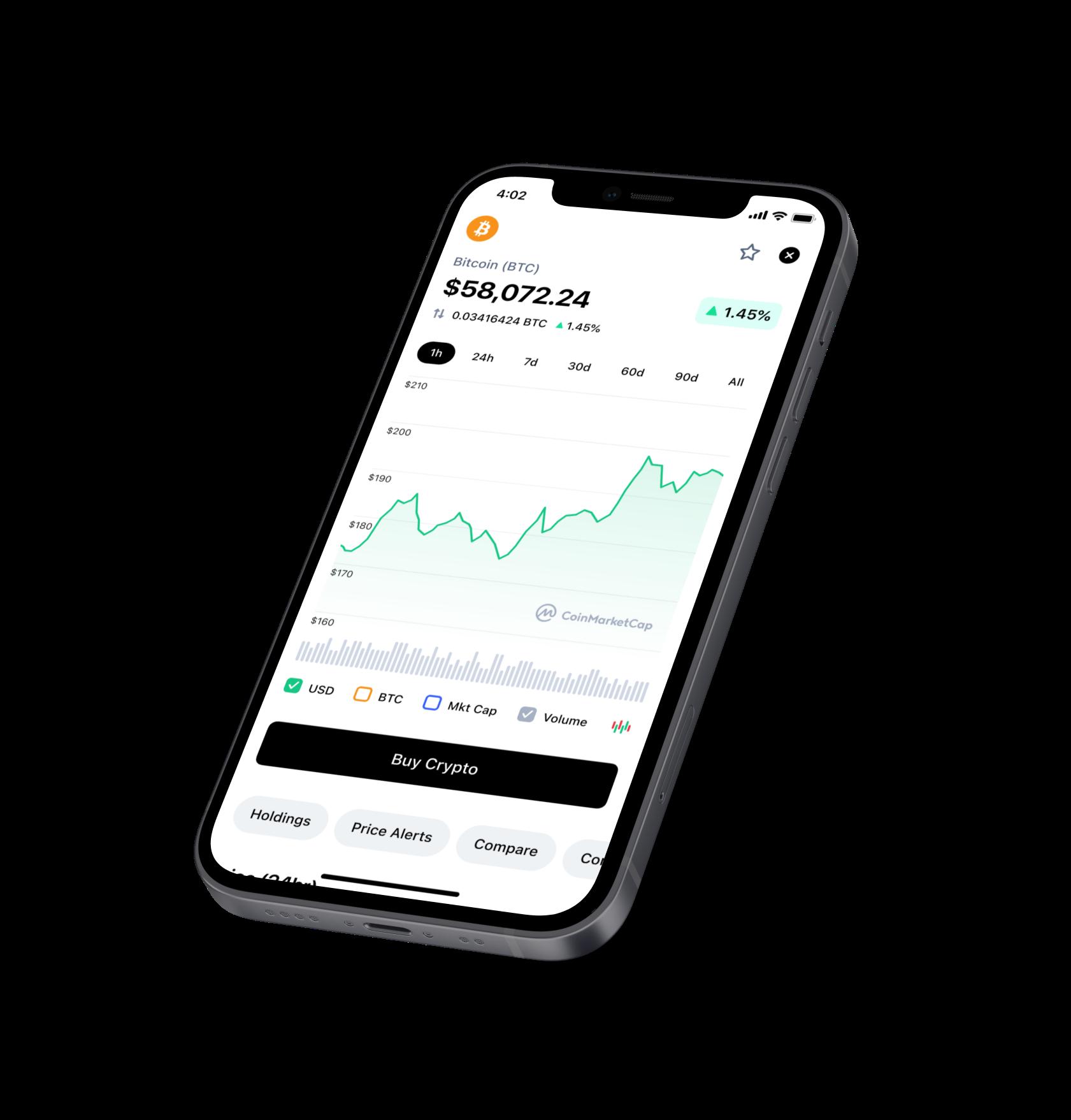 bitcoin market app iphone