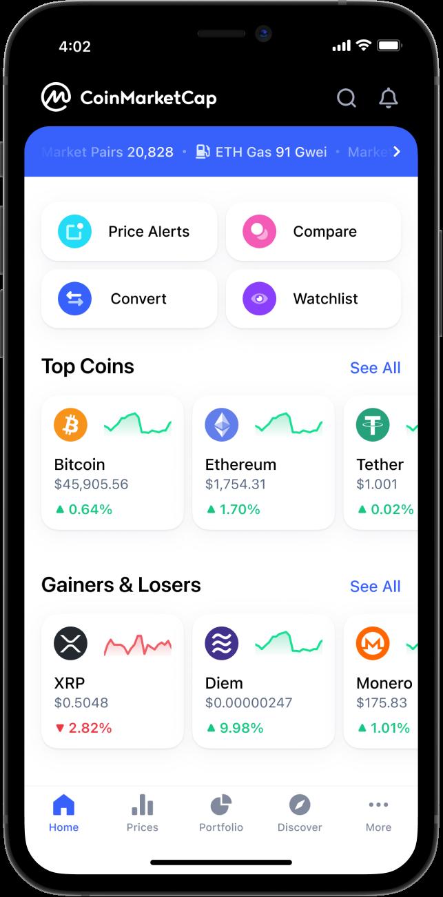 Coin Market Cap : scrivendovolo.it: App e Giochi