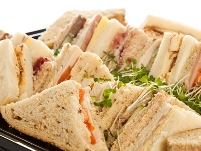 Sandwiches are available on Neale's Spit Roast Catering Light Menu.