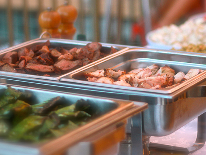 we cater for corporate events for all our menus