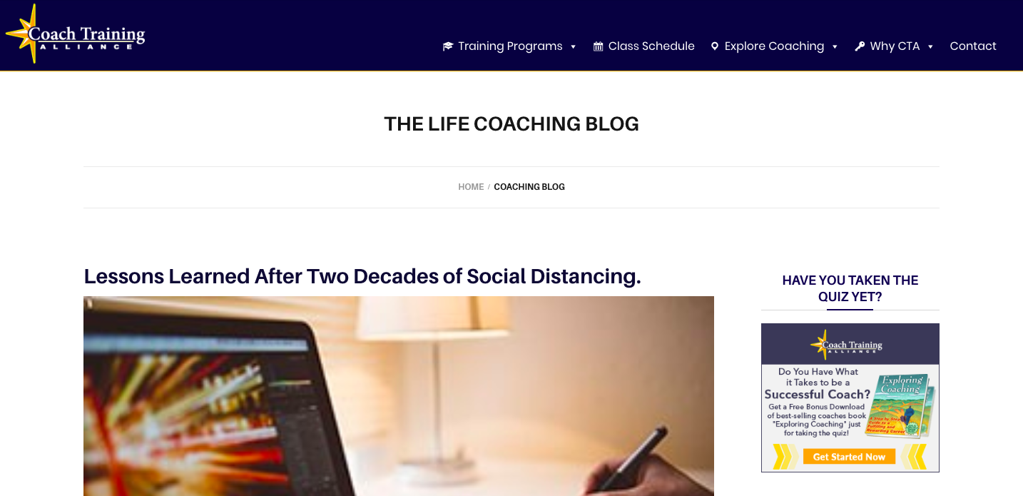 A blog is one of the best free coaching tools