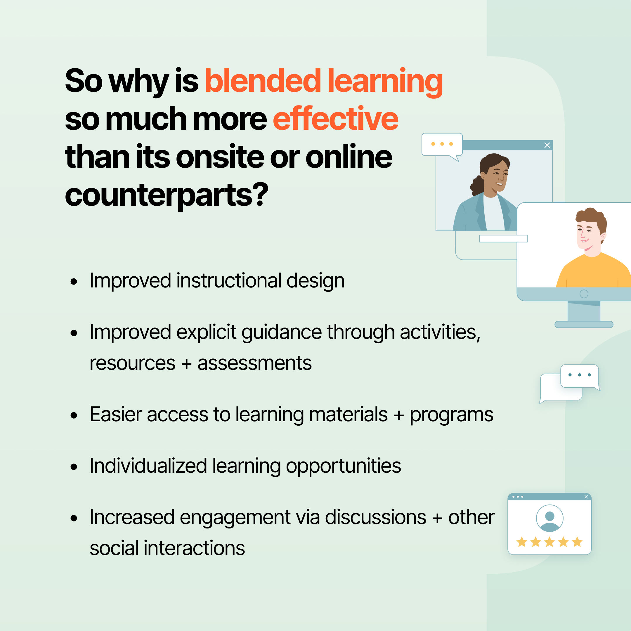 Why blended learning is more effective than onsite or online-only training | blended learning strategy | Profi