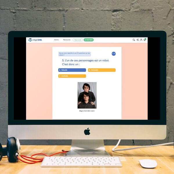 Création de quizzes autour du numérique
