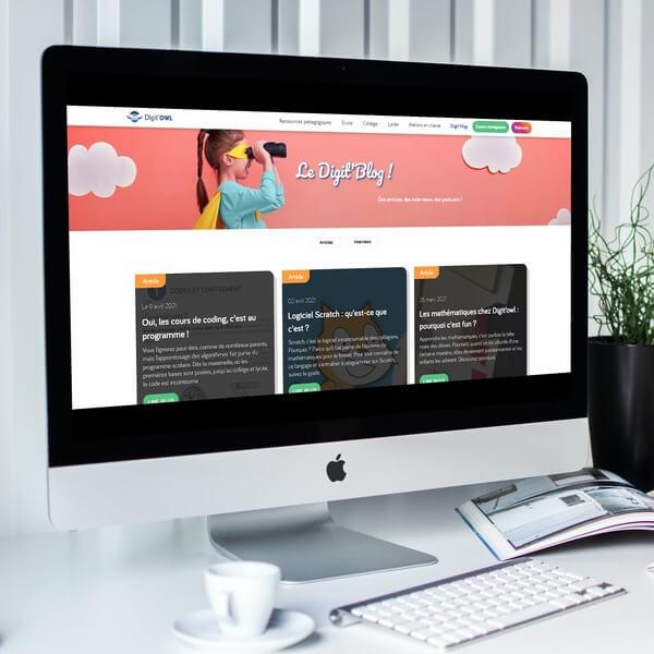 Création du site vitrine et du blog