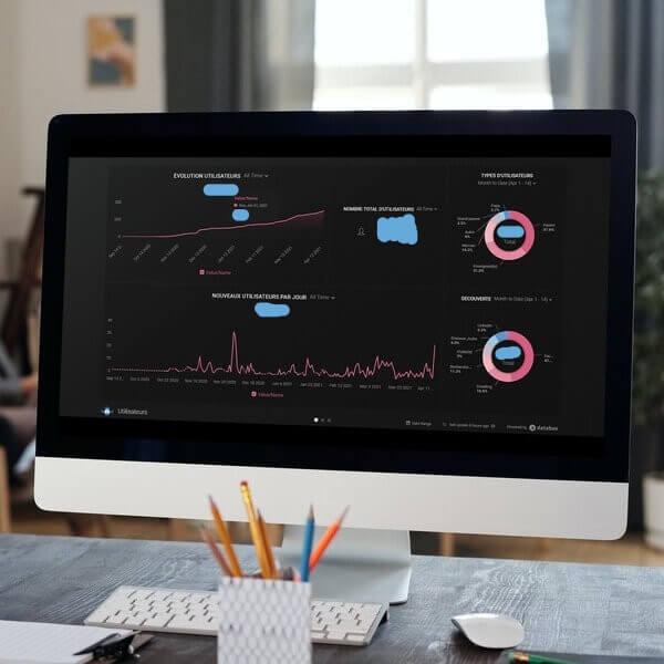 Création d'un Dashboard de récolte et d'analyse de la data pour itération