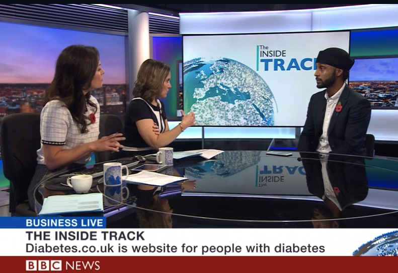 Arjun Panesar discusses type 2 remission on BBC Business Live