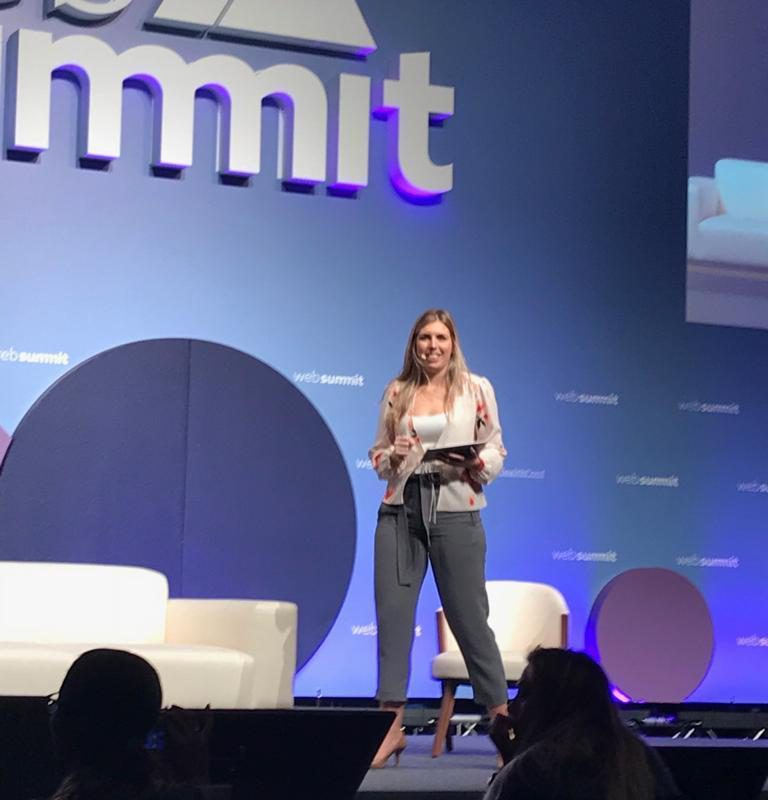 Charlotte Summers hosts day 3 health conference at WebSummit in Lisbon